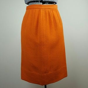 Vintage 60's Homemade Orange Pencil Skirt